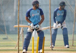 Cricketers seen warming up ahead of T20 series | See Pics