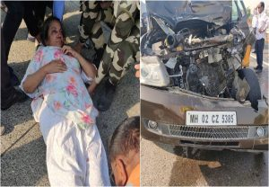 Shabana Azmi, Javed Akhtar meet with accident on Mumbai-Pune Expressway