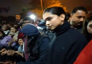 Deepika Padukone joins students at JNU during protest