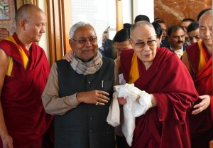 Nitish Kumar meets Dalai Lama in Bodh Gaya