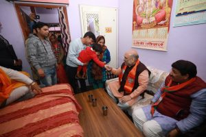 Delhi Polls 2020: Amit Shah, Manoj Tiwari dine at BJP worker's residence