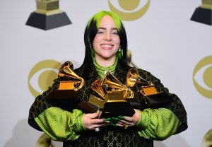 Teenage sensation Billie Eilish wins all four major titles at Grammy Awards