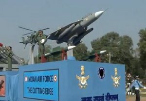 Scaled-down models of Rafale, Tejas aircrafts at Indian Air Force tableau