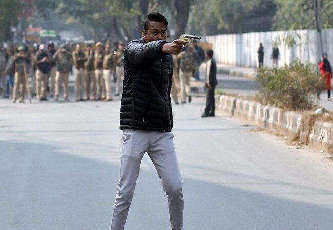 Man fires at protesters in Jamia area, detained
