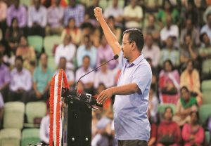 Elaborate security arrangements in place for Arvind Kejriwal's swearing-in ceremony