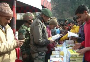 Poonch: Indian Army's Rashtriya Rifle distributed competitive exam books among students