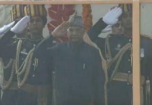 President Kovind receives traditional 21-Gun Salute at R-Day Parade