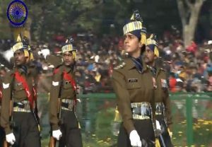 Captain Tanya Shergil leads marching contingent of Corps of Signals on Republic Day