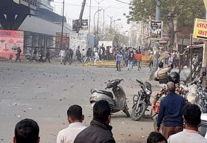 Stone pelting in Delhi's Maujpur; police fire tear gas shells to disperse mob