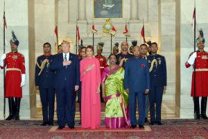 Donald Trump attend state dinner hosted by President Kovind at Rashtrapati Bhawan | See Pics