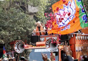 IN PICs: Amit Shah's roadshow with Chirag Paswan in Delhi's Seemapuri