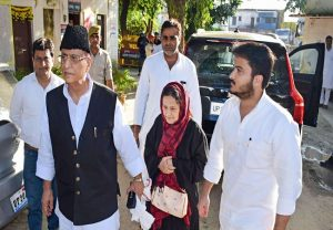 SP heavyweight Azam Khan, wife and son surrender in court; sent to jail