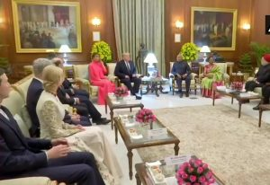 Trumps attend state dinner hosted by President Ram Nath Kovind at Rashtrapati Bhawan