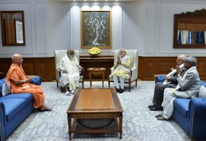 Ram Temple Trust members meet PM Modi, invite him to visit Ayodhya