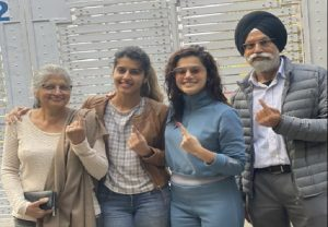 Taapsee Pannu casts vote with family, says 'every vote counts'
