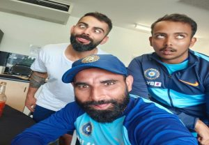 'Naya post, sundar dost': Virat Kohli posts pic with Shaw, Shami
