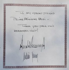 "Trump In India LIVE UPDATES: ""Thank You for this wonderful visit"", writes Donald Trump in visitor's book at Sabarmati Ashram"