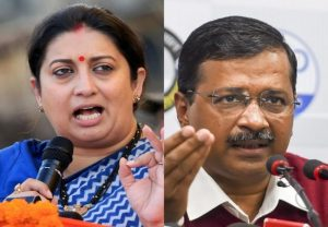 Irani hits out at Kejriwal over his tweet, says 'women capable of choosing their candidates'