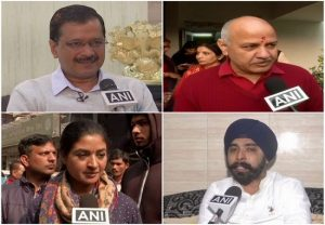 Delhi polls: Kejriwal set to win New Delhi; Manish Sisodia, Alka Lamba, Tajinder Pal Bagga trailing