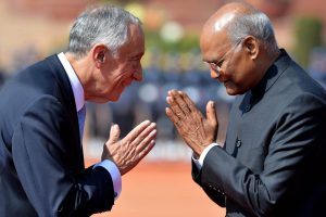 President Kovind accords ceremonial welcome to Portuguese President   See Pics