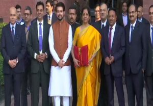Union Budget 2020: Nirmala Sitharaman arrives at Finance Ministry