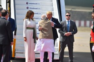 PM Modi welcoming US President Donald Trump and First Lady Melania Trump | See Pics