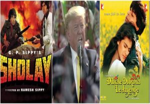 Trump lauds Bollywood with special shout out to 'DDLJ', 'Sholay' at 'Namaste Trump' event