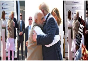 PM Modi welcomes US President Trump to India with a hug