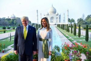 The Trumps admire, pose at iconic Taj Mahal