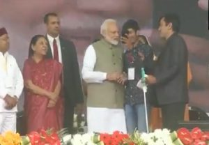 Visually-challenged youth takes selfie with PM Modi in Prayagraj