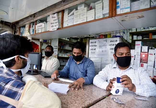 Chemist shops run out of sanitizers and face masks in parts of Delhi-NCR