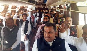 Congress moves its MLAs to Jaipur | See Pics
