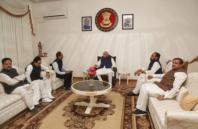BJP delegation meets MP Governor
