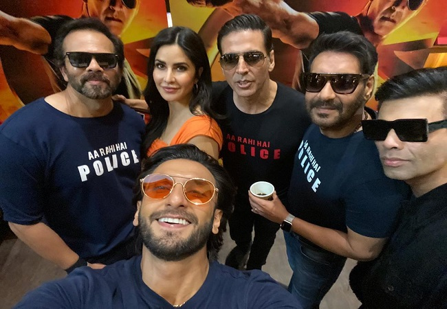 Team 'Sooryavanshi' arrives at live trailer launch in style!