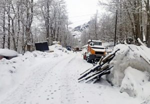Fresh snowfall in Lahaul, Spiti valley of Himachal Pradesh