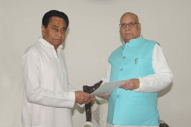 Kamal Nath gives resignation to Governor -