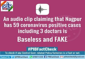 Fact Check | Audio clip suggesting 59 COVID-19 cases in Nagpur is fake