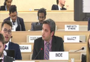 India lambasts Pak for raking up Kashmir issue at UNHRC, raises worsening rights situation in that country