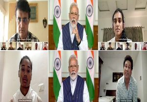 COVID-19: PM holds meeting with 40 elite sportspersons including Virat, Sachin, Sourav
