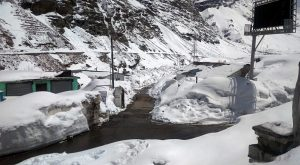 Vew of snow-covered area at Koksar in Himachal Pradesh | See Pics