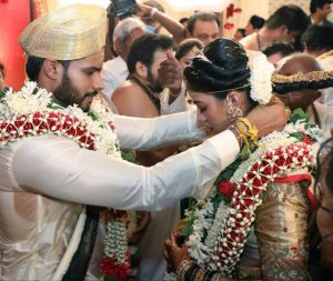 HD Kumaraswamy's son and actor-turned-politician Nikhil ties knot with Revathi | See Pics