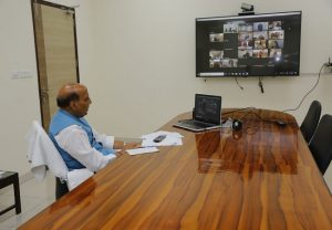 COVID-19: Rajnath Singh holds review meeting with CDS, others via video conferencing