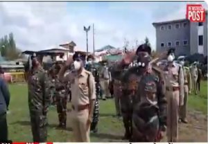 Wreath laying ceremony of Slain police cop Manzoor Ahmad Dar of Hiller Kokernag