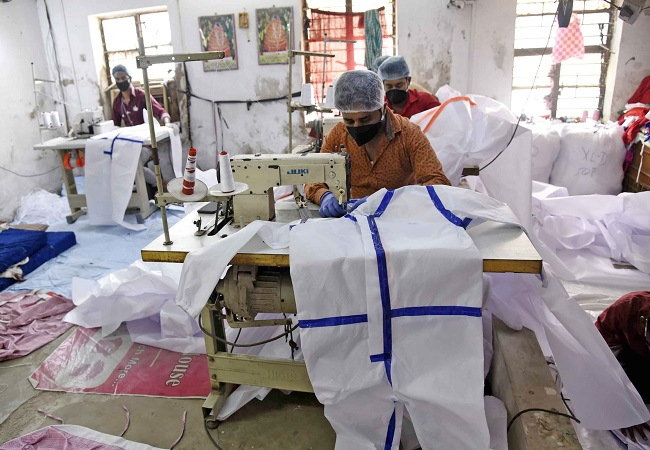 PPE kits production rises to 1.8 lakh per day, will go up to 2 lakh soon: Centre