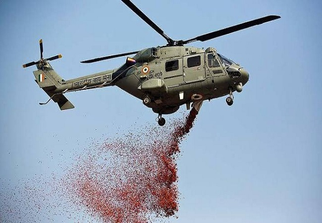 Saluting COVID-19 warriors: IAF choppers showers flowers on National Police Memorial in Delhi, other places