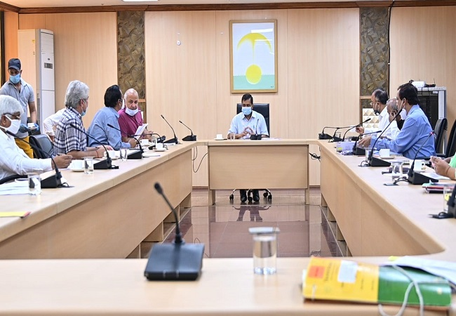 Kejriwal holds first Cabinet meeting as govt offices reopen during lockdown