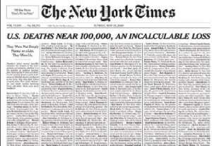 New York Times honors coronavirus victims with powerful front page