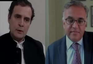 Rahul Gandhi speaks to experts Ashish Jha, Johan Giesecke on COVID-19 situation