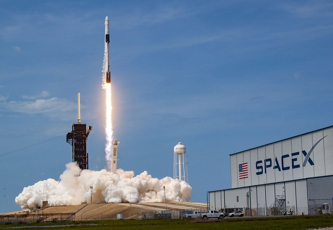 SpaceX, NASA launch first astronauts into orbit from US soil in nearly a decade
