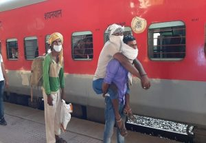 Special train carrying migrant workers departs from Sabarmati for Agra